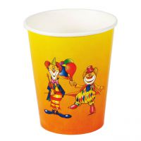 Trinkbecher Clown 200ml, bunt
