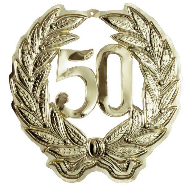 Jubiläumszahl 50, gold, 40cm