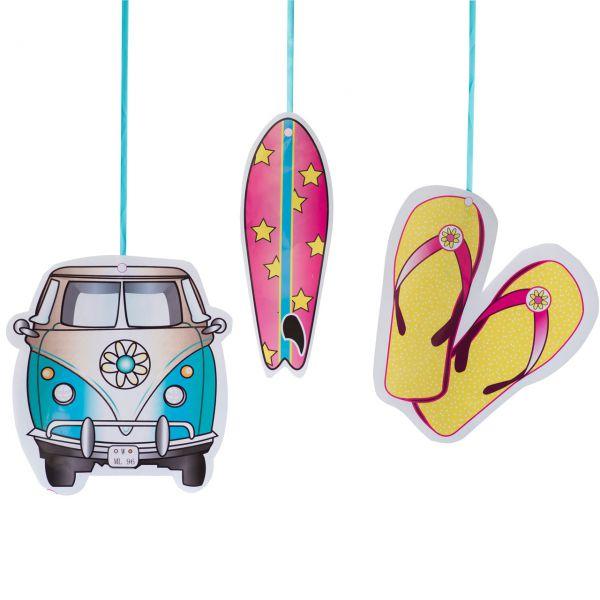 Hänge-Dekoration Surfen, bunt