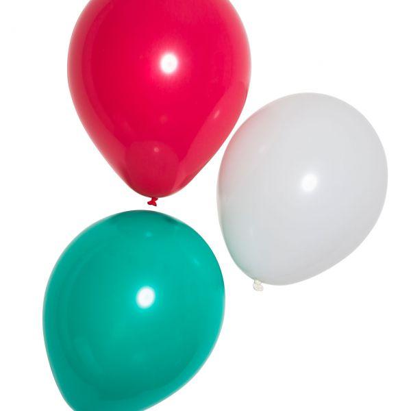 Luftballons, grün-weiß-rot