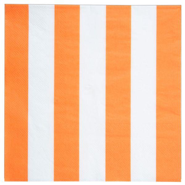 Servietten weiße Streifen, orange