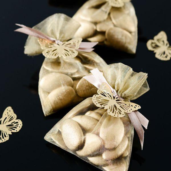 Gastgeschenk Organza-Säckchen, gold