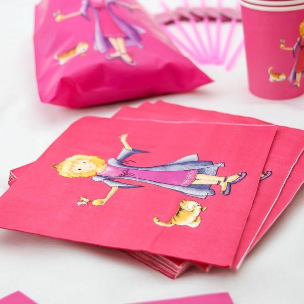 Servietten Prinzessin, pink