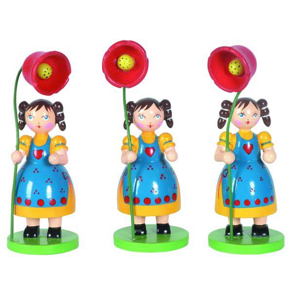 """Frühlingsdeko """"Blumenkind"""" Mädchen mit Blume"""