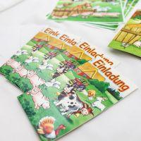 Einladungskarten Bauernhof, bunt