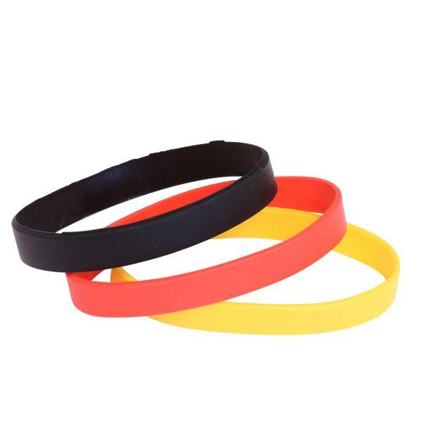 Armband Deutschland, schwarz-rot-gold