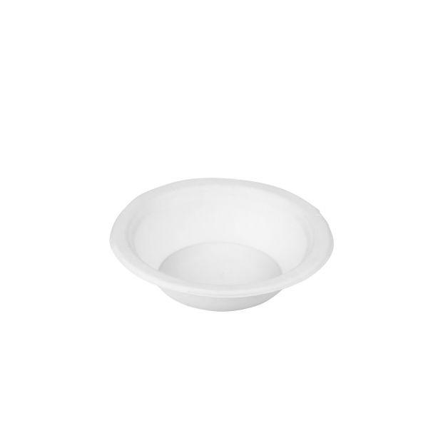 Zuckerrohr Schale rund Ø 15 x 4,5 cm, weiß