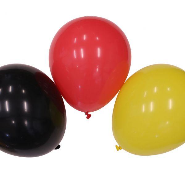 Luftballons Deutschland, schwarz-rot-gold
