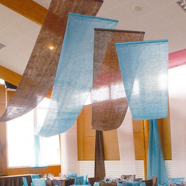 Partyhimmel, B: 80cm x 12m, blau-türkis