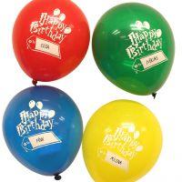 Luftballons Happy Birthday, beschreibbar, kristall