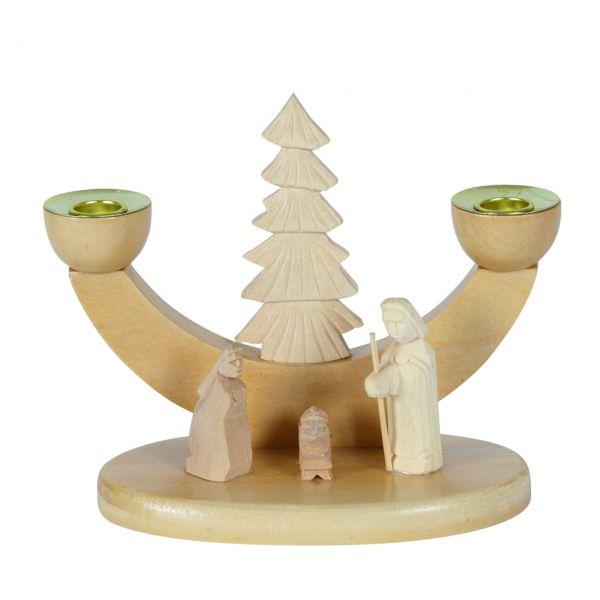Kerzenhalter, mit Krippe und Hl. Familie