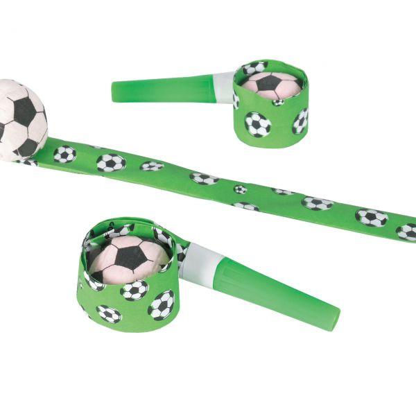 Luftrüssel mit Fußball, Papier, grün-schwarz-weiß