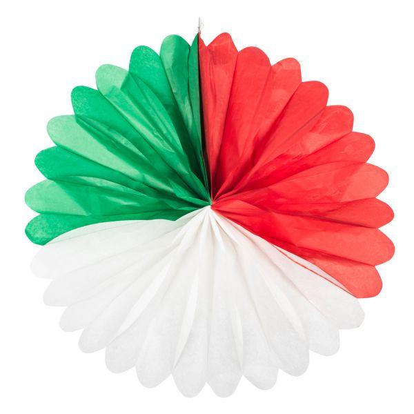 Deko-Fächer, grün-weiß-rot
