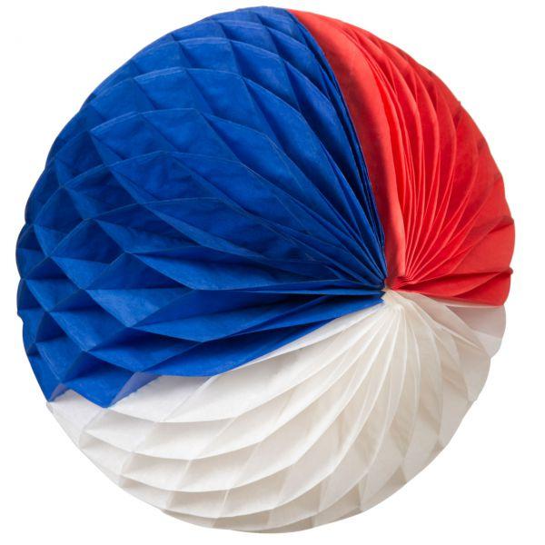 Wabenball, Ø 32 cm, weiß-blau-rot