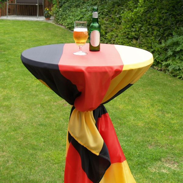 Stehtisch Decke Deutschland, wetterfest, schwarz-rot-gold