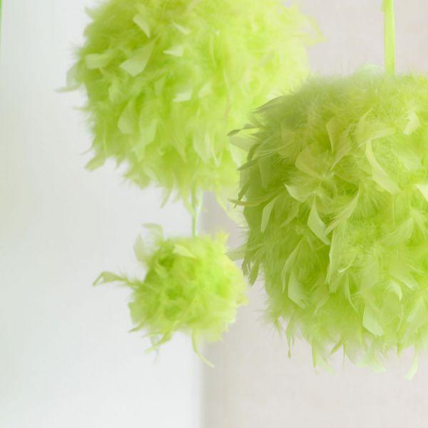 Raumdeko Federkugel, grün