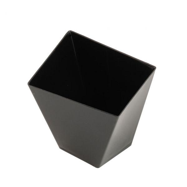 Fingerfood Buffet-Minibecher, eckig, schwarz