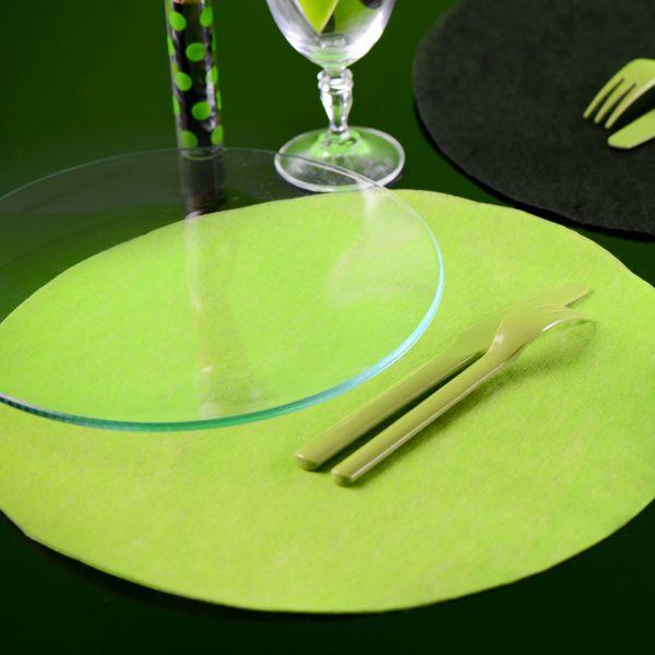 Tischset rund 10 Stück, grün