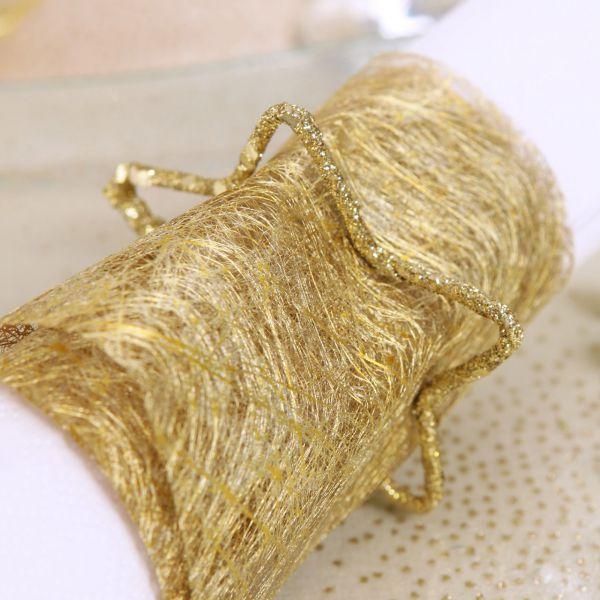 Tisch- und Schleifenband B: 10cm, metallic-gold