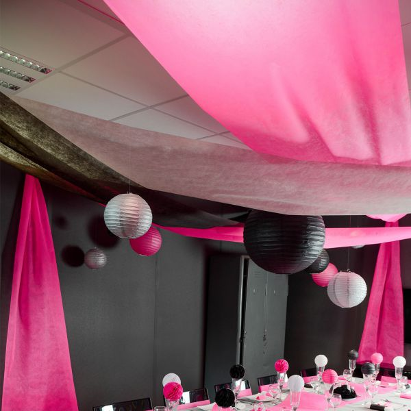 Partyhimmel, B: 80cm x 12m, pink