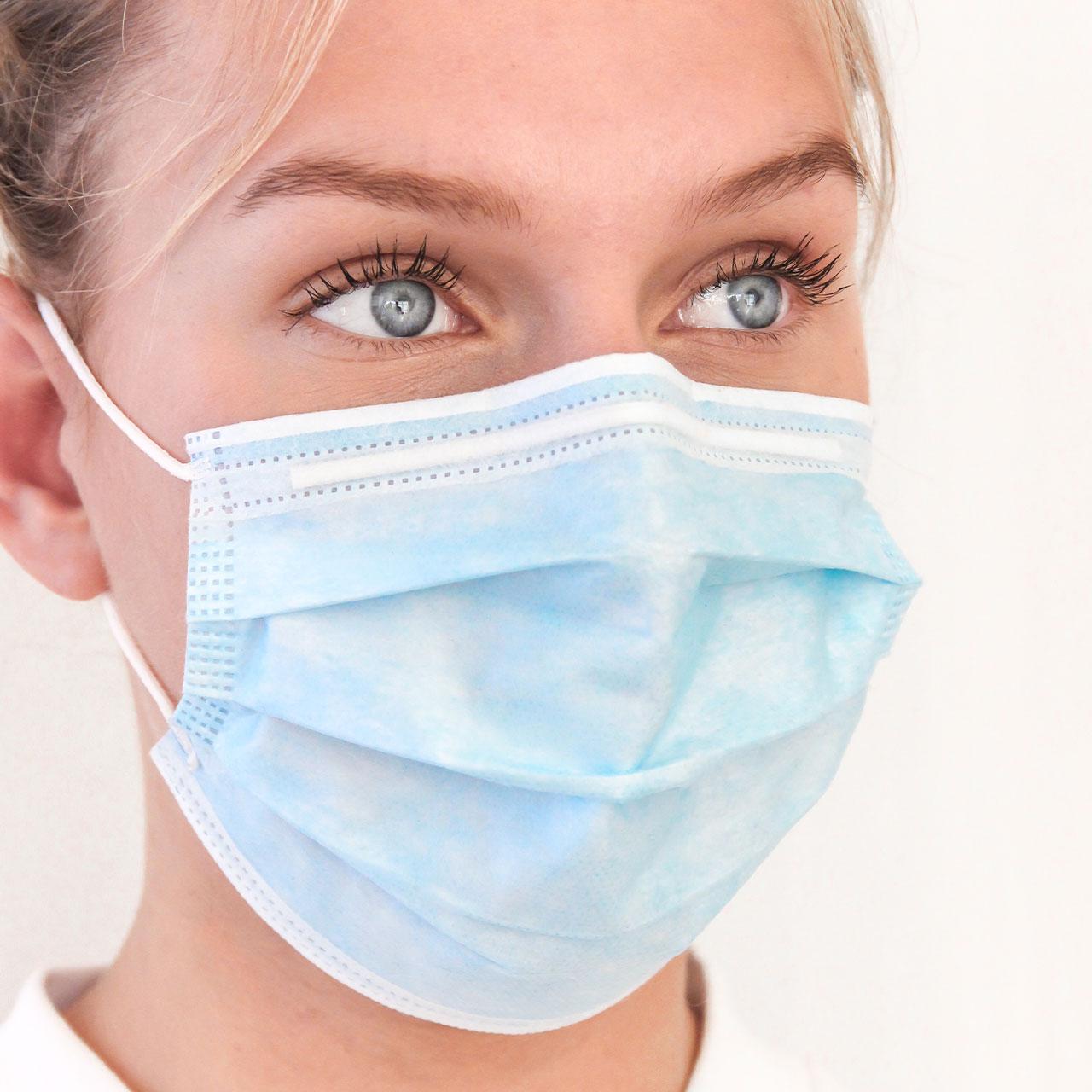 Mund-Nasen-Schutz für Gastronomie, Einweg 50er Box