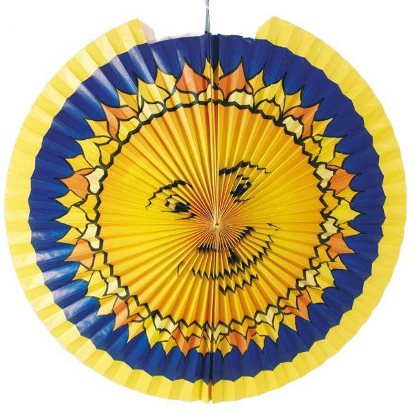 Kinder-Laterne Sonne, gelb-blau