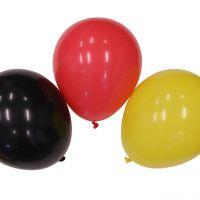 Luftballons Deutschland, schwarz-rot-gold 12 Stück